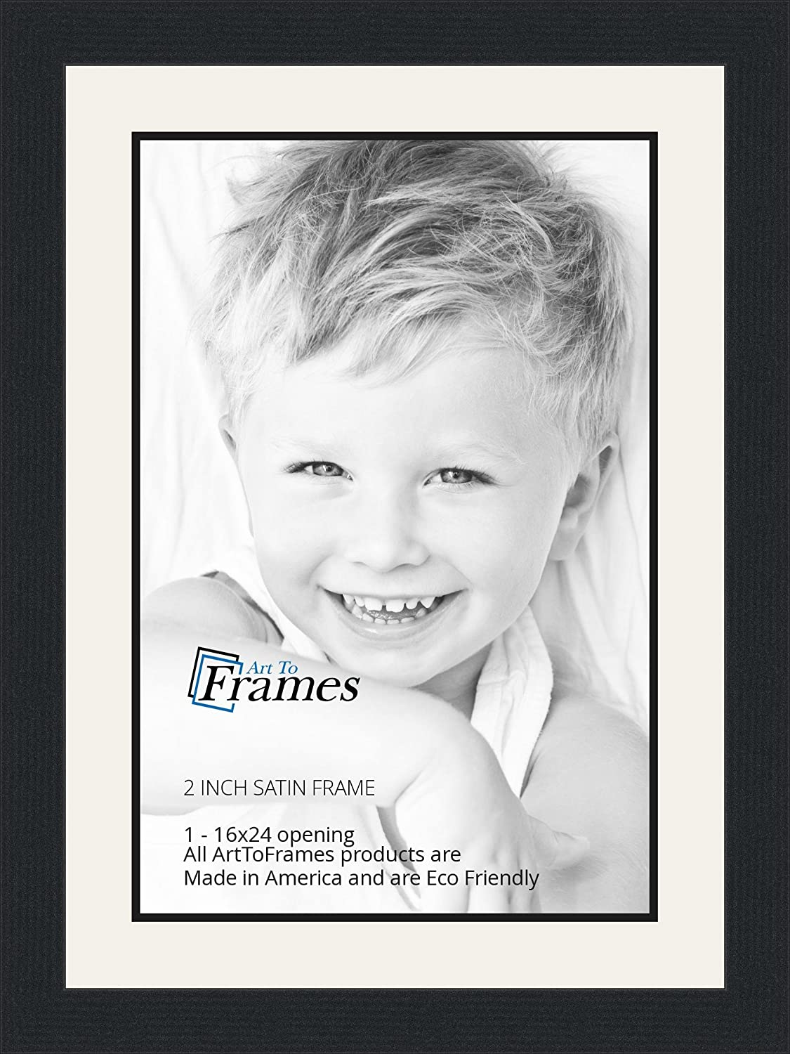 Amazon 16x24 16 x 24 picture frame satin black 2 wide amazon 16x24 16 x 24 picture frame satin black 2 wide with a 2 double mat single frames jeuxipadfo Images
