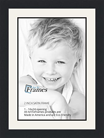 Amazoncom 16x24 16 X 24 Picture Frame Satin Black 2 Wide With