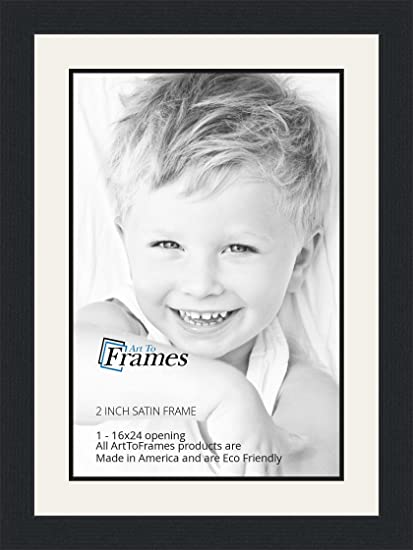 Amazon 16x24 16 X 24 Picture Frame Satin Black 2 Wide