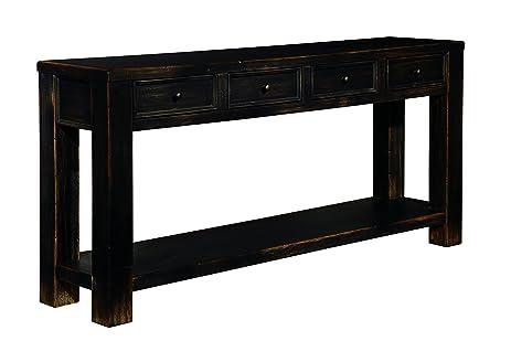 Ashley Furniture Signature Design   Gavelston Sofa Table   Rectangular    Black