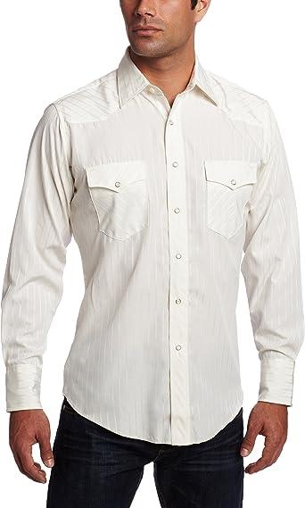 Wrangler - Camiseta deportiva alta para hombre, diseño de rayas Dobby