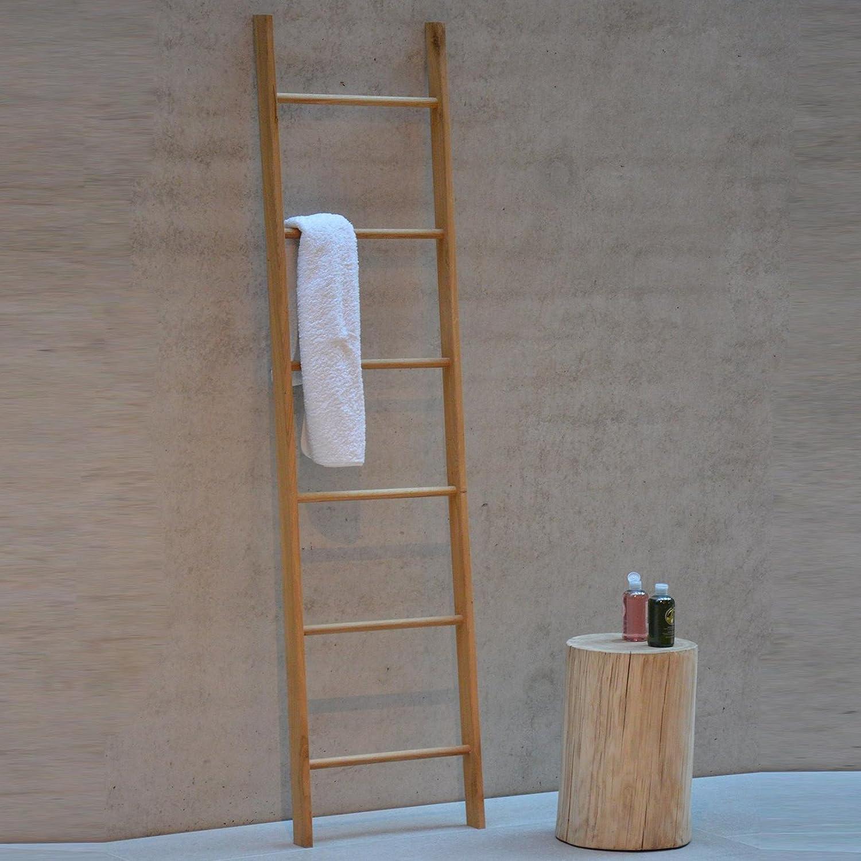 Hop - Escalera de toalla roble/6 peldaños/179x46cm: Amazon.es: Hogar
