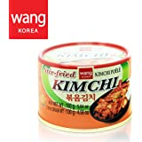 Korean Stir Fried Kimchi, Authentic Canned Napa Cabbage Original Tasteful Stir-Fry Kim Chi, Vegan Gluten Free No Preservatives - 5.64 oz (1 can)