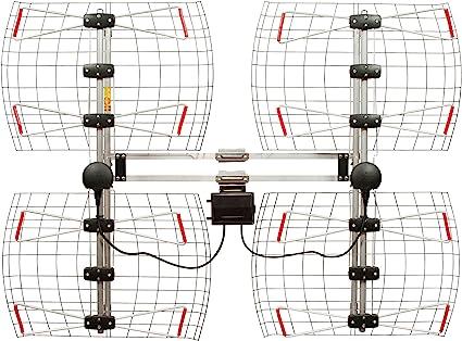60 Mile Range 4 Element Bowtie Indoor//Outdoor HDTV Antenna