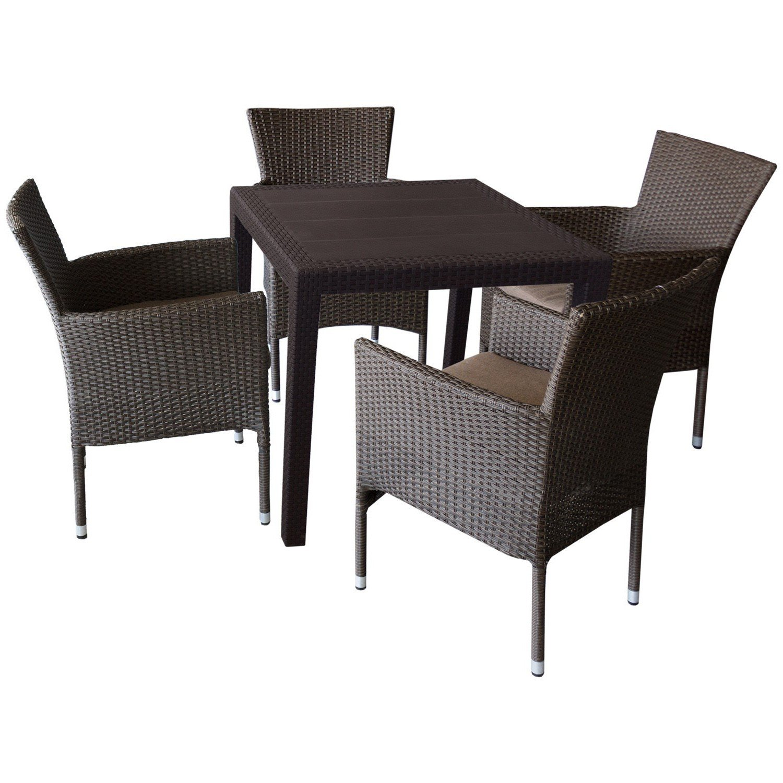 gartenm bel terrassenm bel set 5 teilig sitzgruppe sitzgarnitur gartengarnitur bistrogarnitur. Black Bedroom Furniture Sets. Home Design Ideas