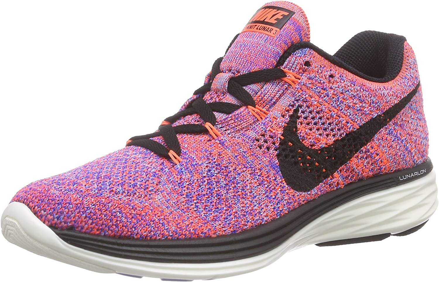 Amazon Com Nike Flyknit Lunar 3 Women S Running Shoes Size Us 6 5 Regular Width Color Pink Gray Road Running
