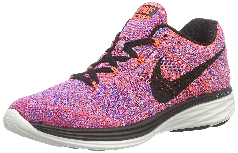 timeless design 5c5eb 0869b Amazon.com   NIKE Flyknit Lunar 3 Women s Running Shoes Size US 6.5,  Regular Width, Color Pink Gray   Road Running