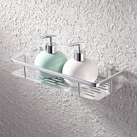 KES Shower Shelf, Bathroom Shelf Basket 12.4u0026quot; Aluminum   Shower  Organizer Wall Mounted,