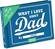 Knock Knock What I Love about Dad Fill in the Love Book Fill-in-the-Blank Gift Journal