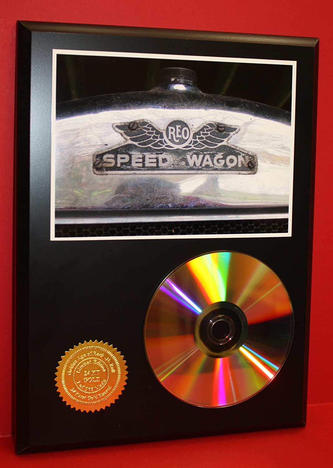Reo Speedwagon 24Kt Gold Art CD Disc Display Award Quality - Limited Edition Gold Record Outlet