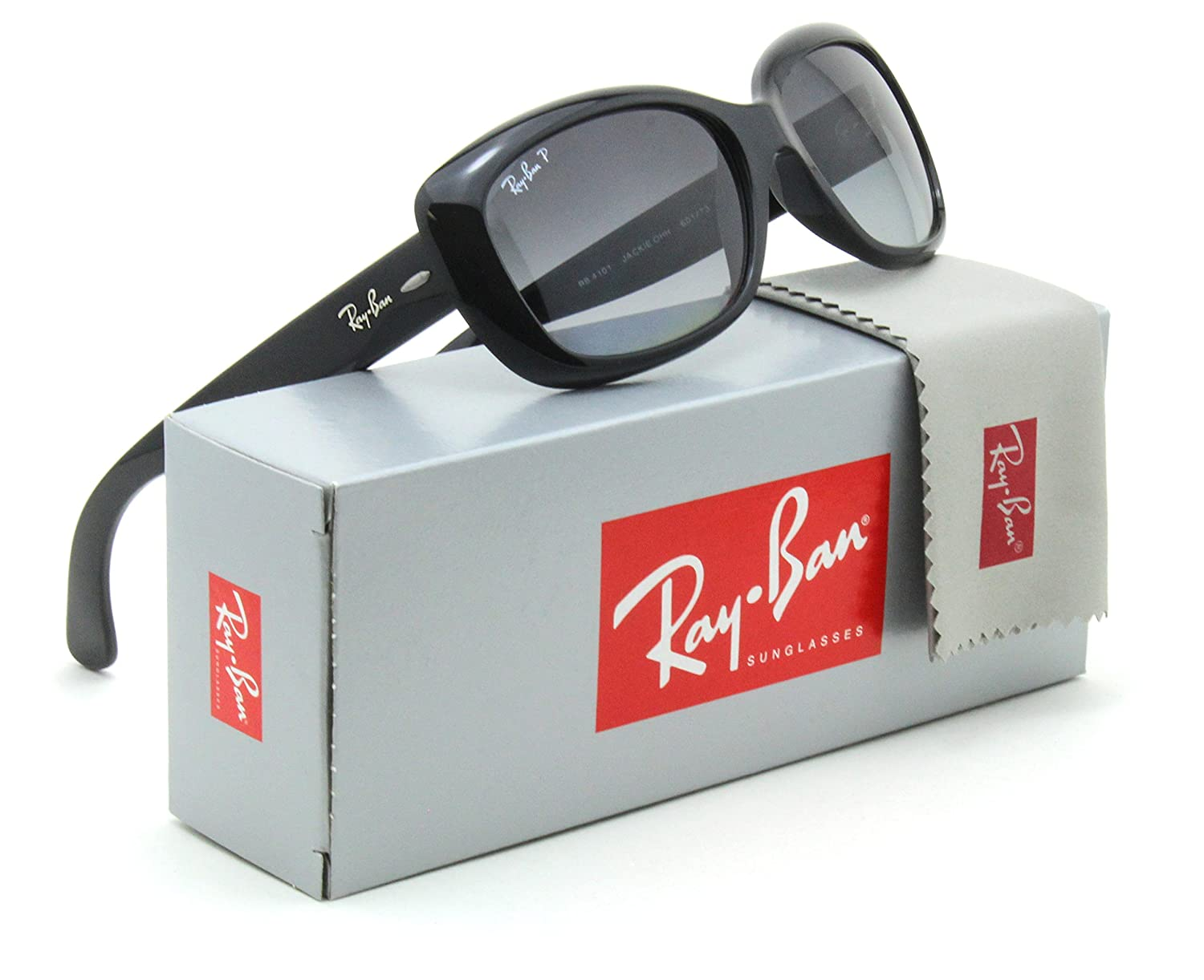 Ray-Ban RB4101 Jackie Ohh Polarized Women Sunglasses Black 601/T3