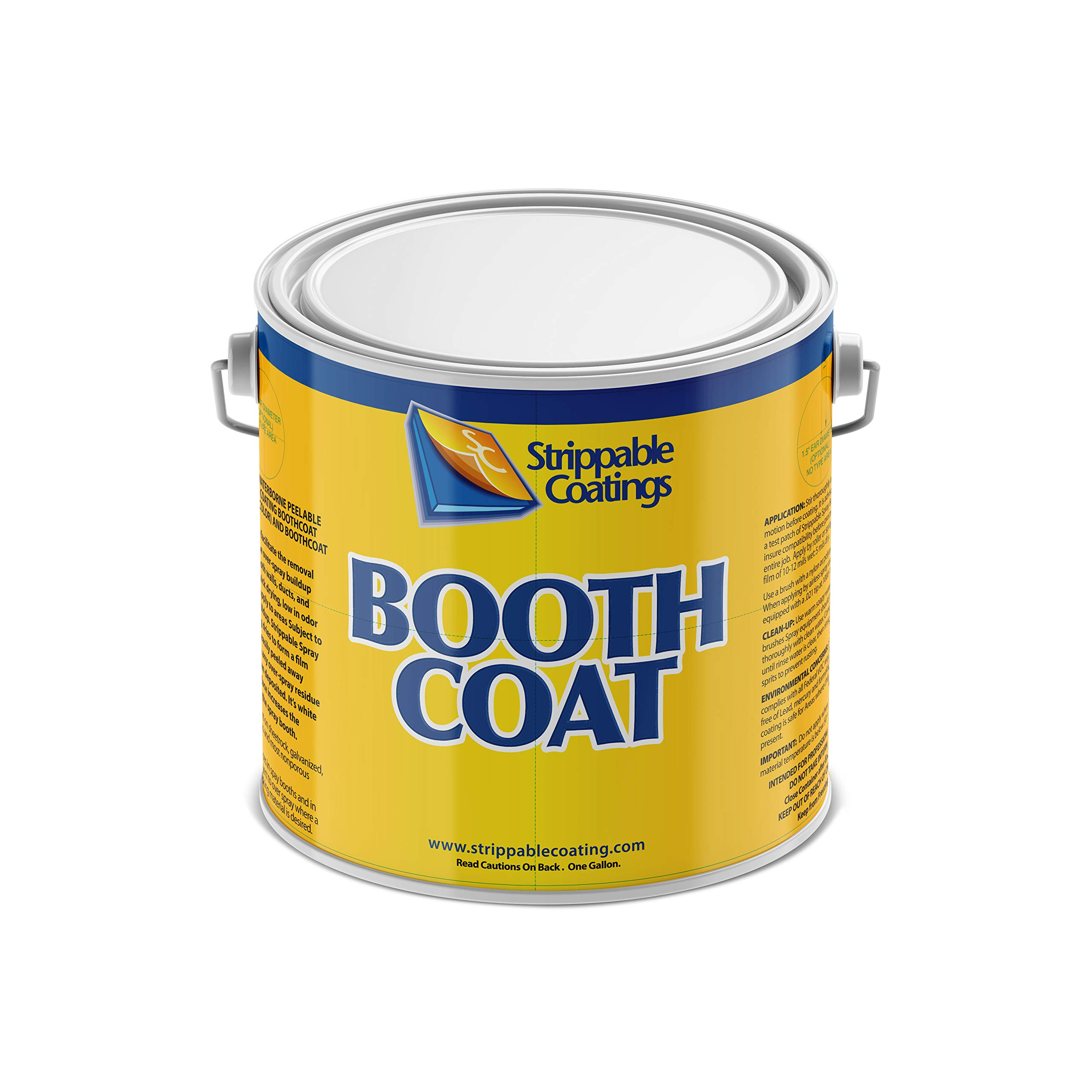 BOOTHCOAT 5201 | Paint Booth Coating Protective Paint | White Peelable Coating Paint for Walls, Ceilings, and Light Fixtures | Water Based (1 Gallon)