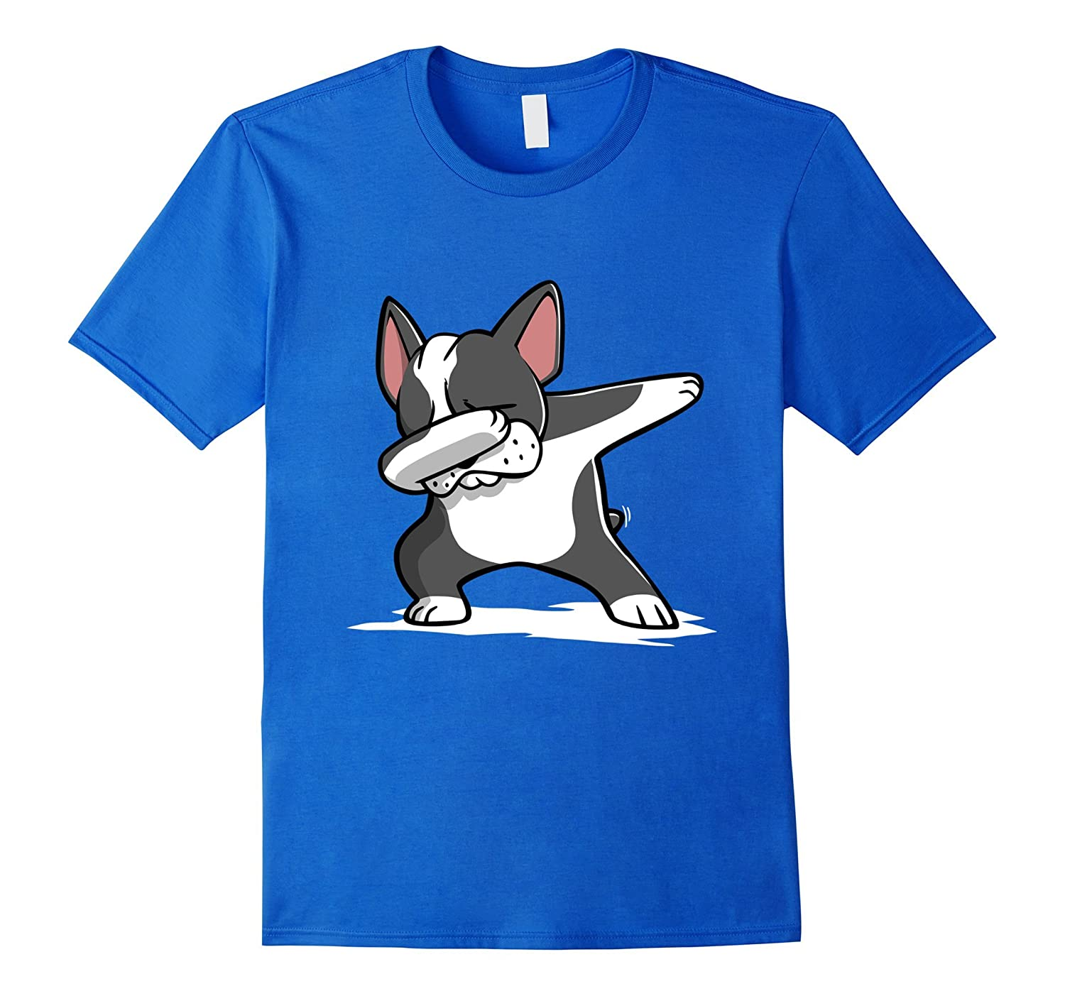 Dabbing Boston Terrier Dog T-Shirt Dab Dance Gift Shirt-RT