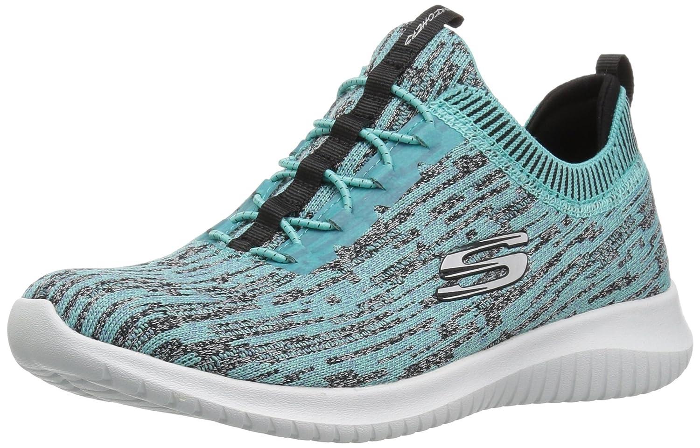 Skechers Women's Ultra Flex Bright Horizon Sneaker B01MS9T7NO 10 B(M) US|Turquise Black