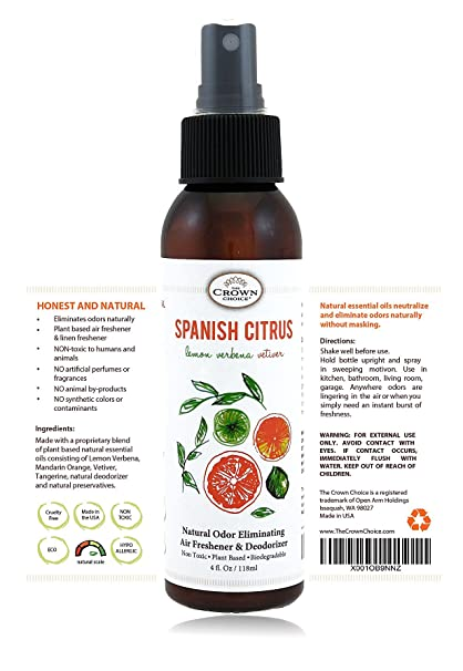 Amazon Com Natural Room Deodorizer Spray Air Freshener Spanish