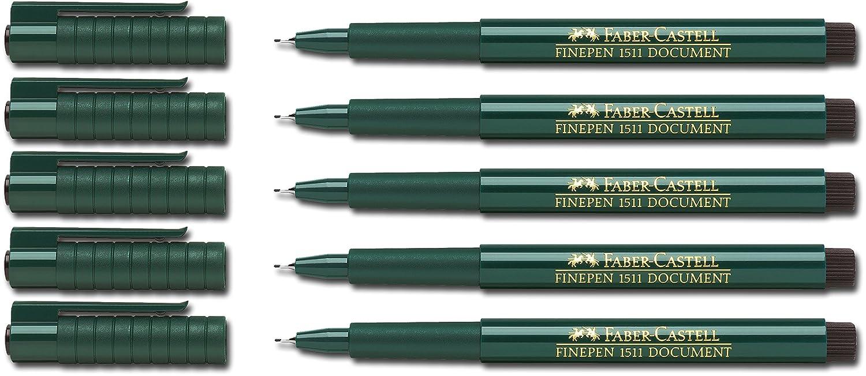 Faber-Castell 151199 schwarz Faserschreiber Finepen 1511 0.4 mm