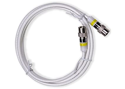 Channel Master CM-3720 Mini Coaxial Cable with Push-On Connectors - 6 Foot