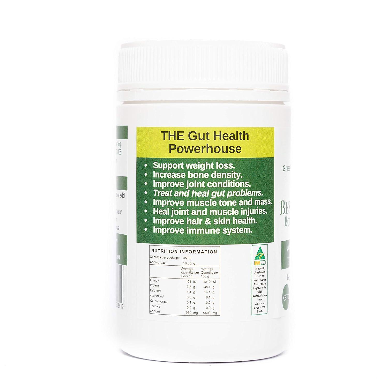 Gelatina de caldo de hueso de vacuno orgánico - Apoya la salud de las articulaciones y mejora la inmunidad - Ingredientes frescos y naturales para una dieta ...