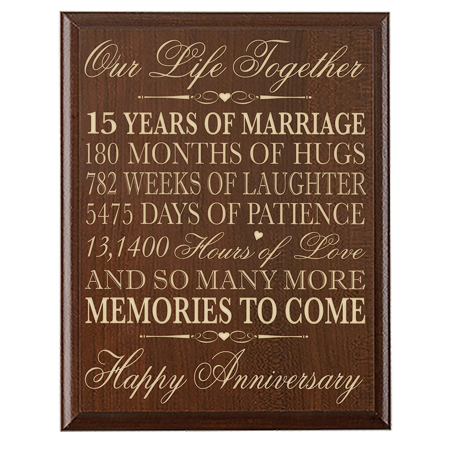 Amazon Lifesong Milestones 15th Wedding Anniversary Gift For