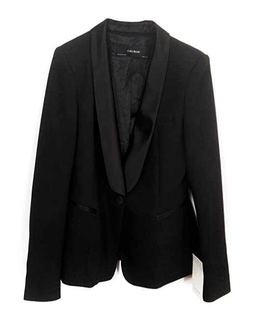 dffe7bc3a9326 Zara Women Tuxedo Style Blazer 2173 783 - Black - XL  Amazon.co.uk  Clothing