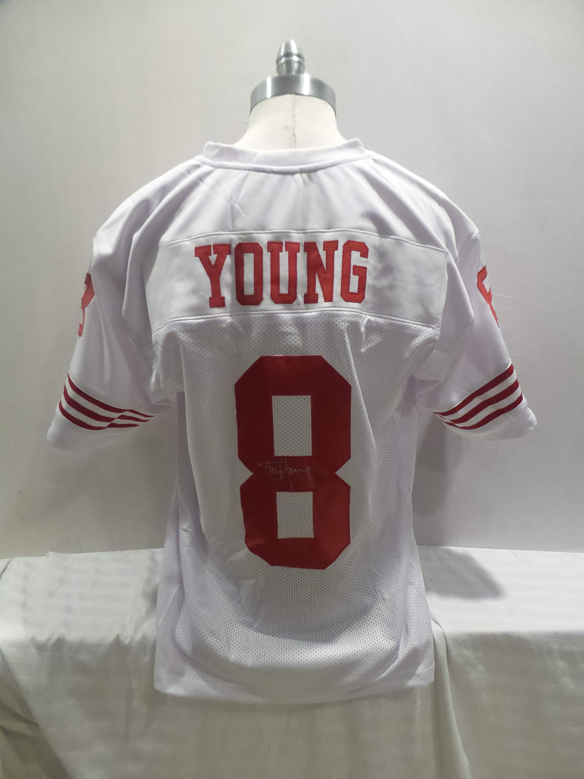 Steve Young Signed San Francisco 49'ers White Autographed Novelty Custom Jersey