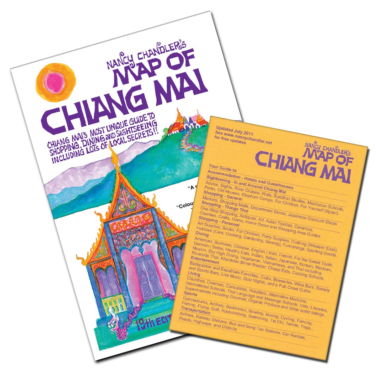 Nancy Chandler's Map of Chiang Mai: Amazon.de: Nancy Chandler ... on