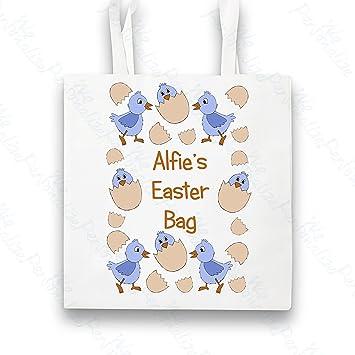 Personalised easter egg hunt bag for children blue tote bag with personalised easter egg hunt bag for children blue tote bag with handles unique spring negle Gallery