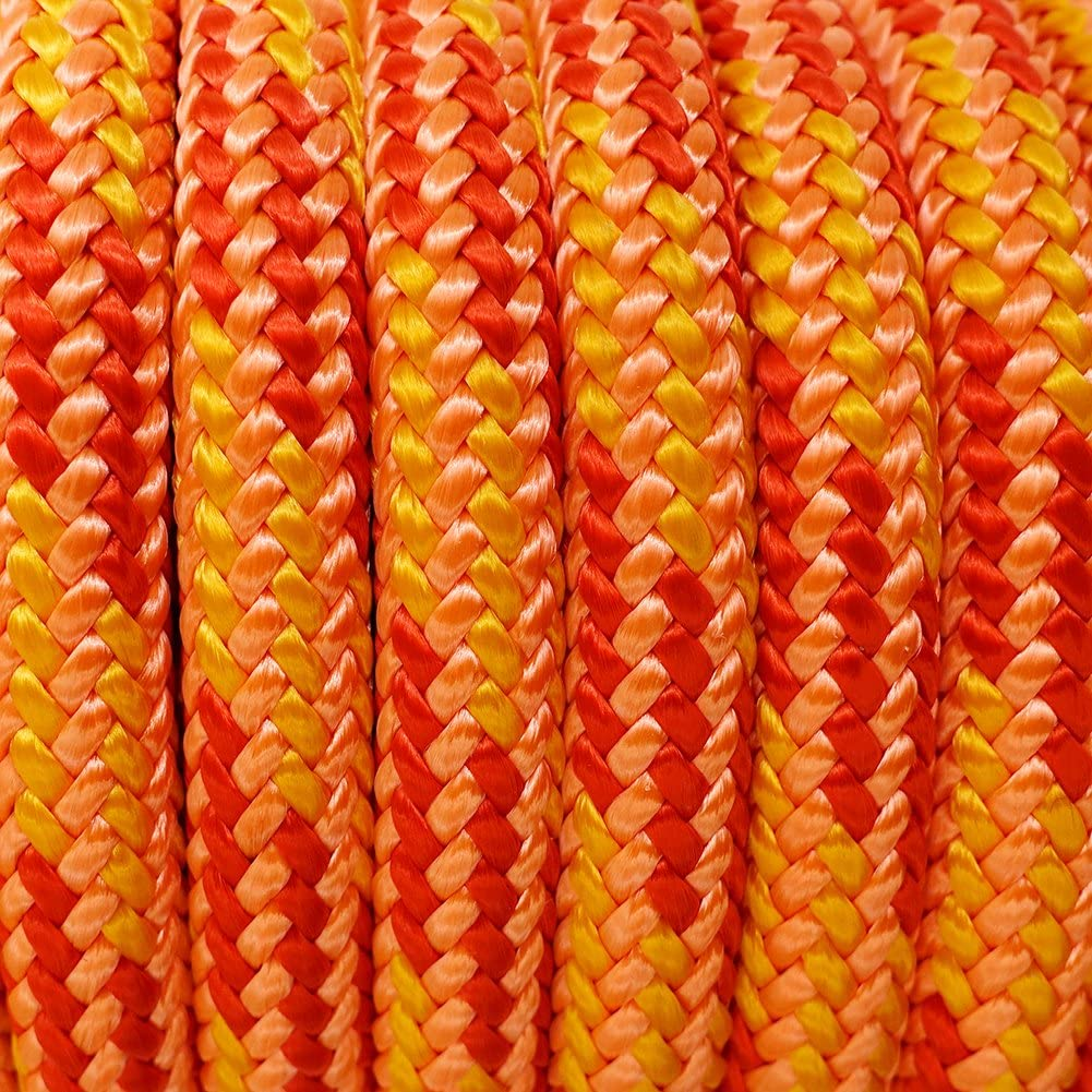 GM CLIMBING 11.5mm Rigging Line Rope Double Braid 30kN 6700Lb High Strength for Hauling Dragging Tie-Down