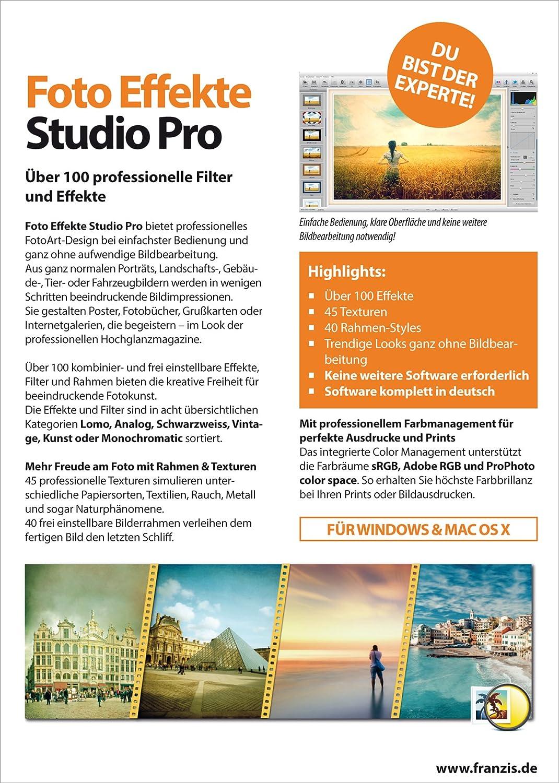 Franzis Verlag Foto Effekte Studio Pro [PC/Mac]: Franzis: Amazon.de ...