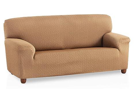 Bartali Funda de sofá elástica Olivia - Color Beige - Tamaño 2 plazas (de 110 a 150 cm)