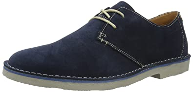 Clarks Men s Jareth Walk Lace-Up Derby Shoes Blue (Navy Suede) 8 ... d06766b84ad