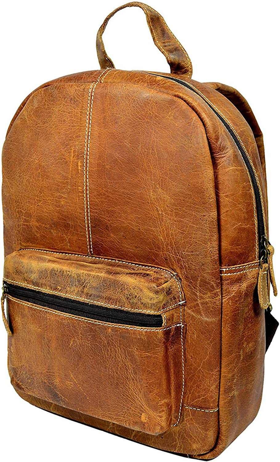 15x11 inches Prastara Leather Backpack College School Laptop Computer Backpack