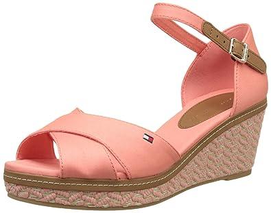 54f830767 Tommy Hilfiger Women  s E1285lba 31d Wedge Heels Sandals  Amazon.co ...