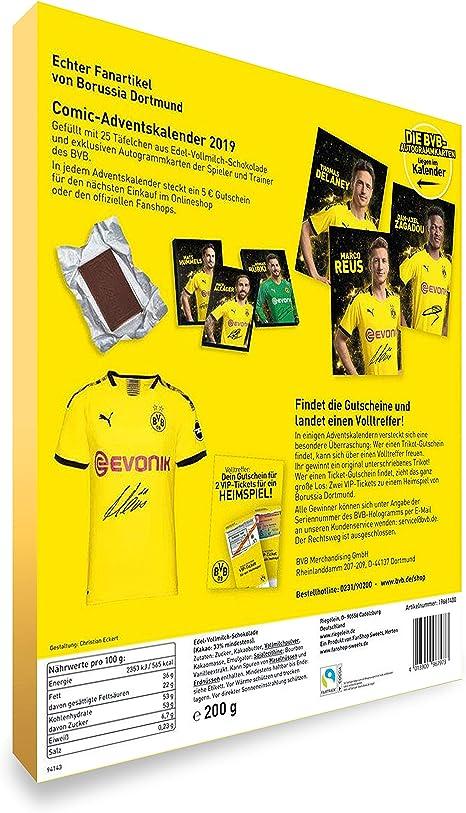 Autographs Card BVB 09 Borussia Dortmund Autogrammkarten Team 2019//20 Sammelkarten Plus Lesezeichen I Love Dortmund