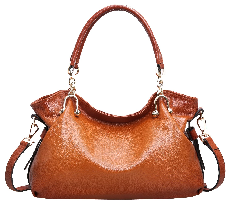 Heshe Women's Handbags Designer Organizer Hobo Tote Shoulder Bags Cross Body Satchel Purses for Ladies (Sorrel-26)