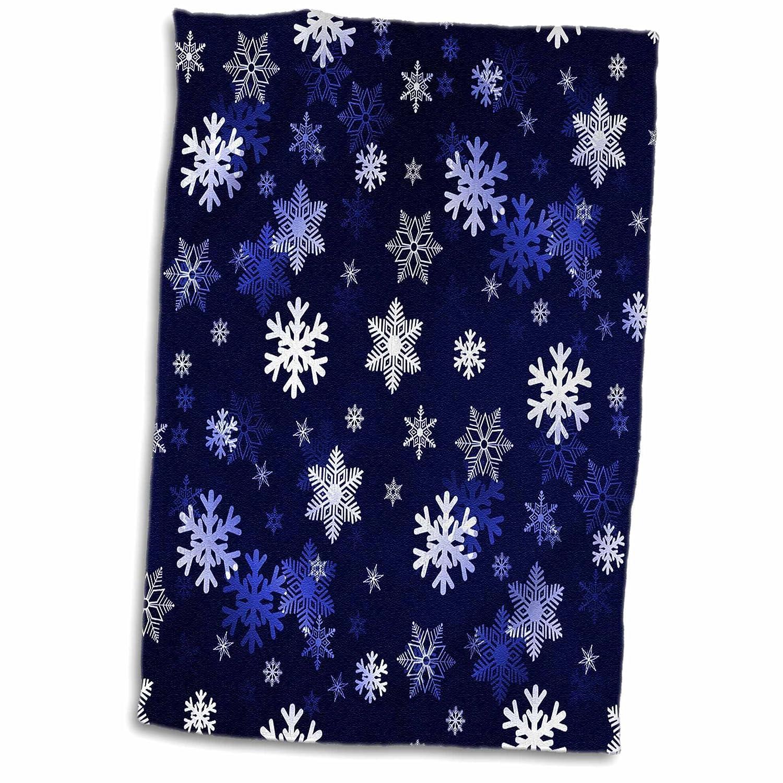 15 x 22 3D Rose Deep Burgundy and Black Tiny Geometric Flowers and Stars Pattern Hand//Sports Towel