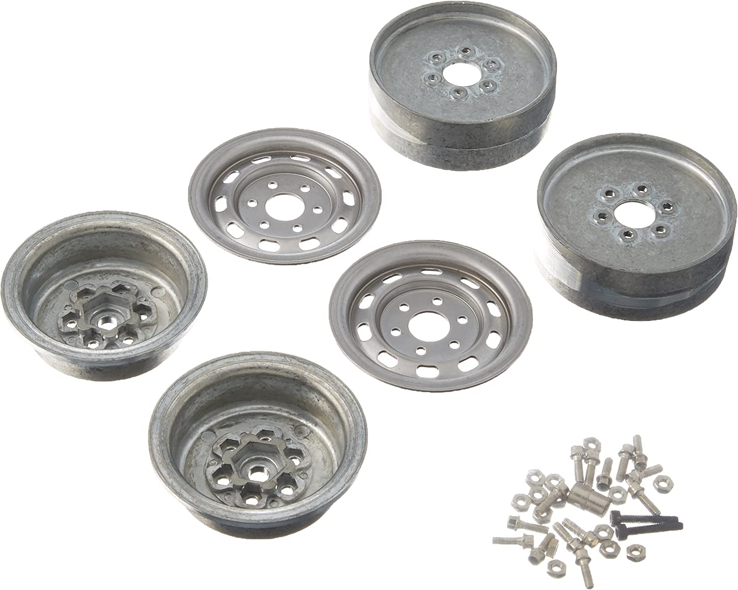 """Gmade GM70225 1.9/"""" NR01 Beadlock Wheels Chrome 2 for 1.9 Size Tires w//12mm Hex"""
