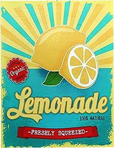 "Barnyard Designs Freshly Squeezed Lemonade Retro Vintage Tin Bar Sign Country Home Decor 10"" x 13"""