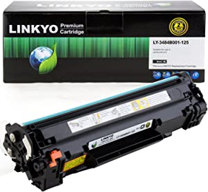 LINKYO Compatible Toner Cartridge Replacement for Canon 125 3484B001AA (Black)