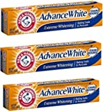 Arm & Hammer Advance White Extreme Whitening Toothpaste 2.8 Oz Travel Size (Pack of 3)
