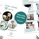 Hayes Paper, Waterslide Decal Paper INKJET CLEAR 20 Sheets Premium Water-Slide Transfer Transparent Printable Water…