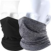 AXBXCX 2 Pack or 1Pack Neck Gaiter Warmer Face Mask for Summer/Winter Activities