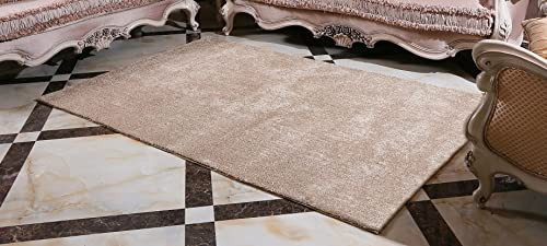 Ocean Bridge Home Decor Collection Kerouac Minimalism Area Rug, 8X10 , Mocha