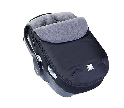 Kutnik Saco de abrigo universal polar para silla de coche - Negro y gris grafito