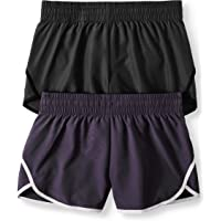 Athletic Works Women's Active Running Shorts with Hidden Liner 2-Pack