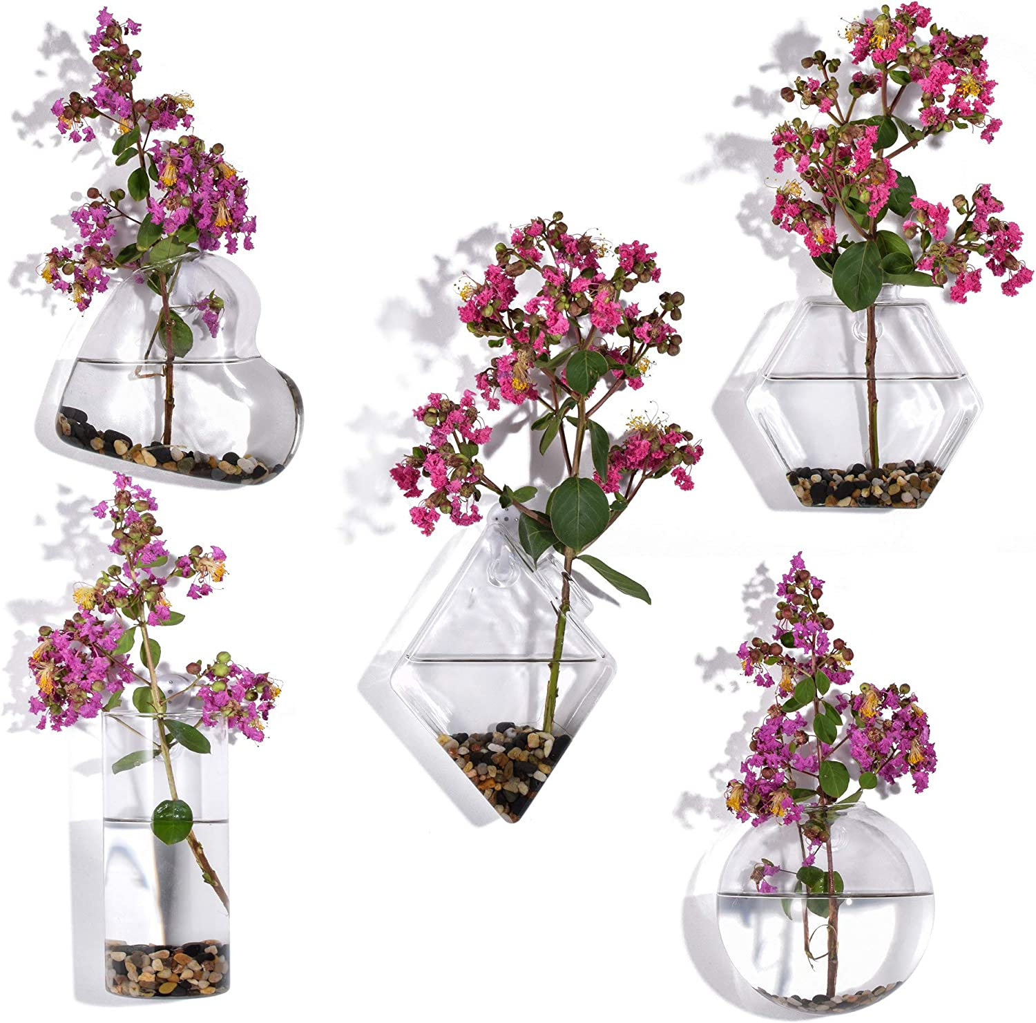 Glass Planters Wall Hanging Planters