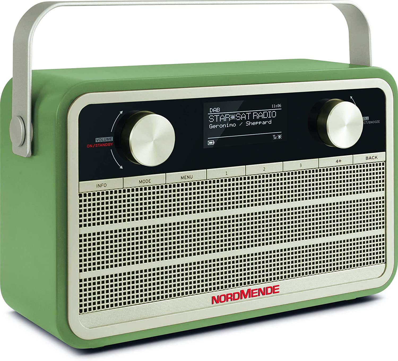 Nordmende Transita 120 Ir Portable Internet Radio Dab Radio Fm Wifi 24 Hours Battery Alarm Clock Sleep Timer Headphone Jack 5 Watt Mono Speaker Green Home Cinema Tv Video