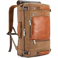 Plambag Canvas Travel Duffel Backpack Retro Laptop Messenger Bag Handbag