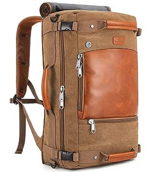Amazon.com: Plambag lona bolsa de viaje mochila retro ...