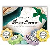 Fiora Naturals Shower Steamers Aromatherapy Gift- 6 Shower Bombs Vapor Tablets with Essential Oils for Stress Relief Vaporizi
